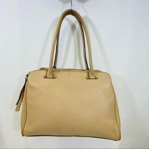 Kate Spade CharlesStreet BeigeLeather Shoulder Bag